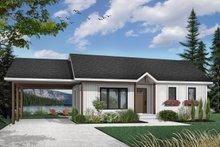 Modern Exterior - Front Elevation Plan #23-107