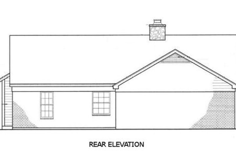 Country Exterior - Rear Elevation Plan #45-255 - Houseplans.com