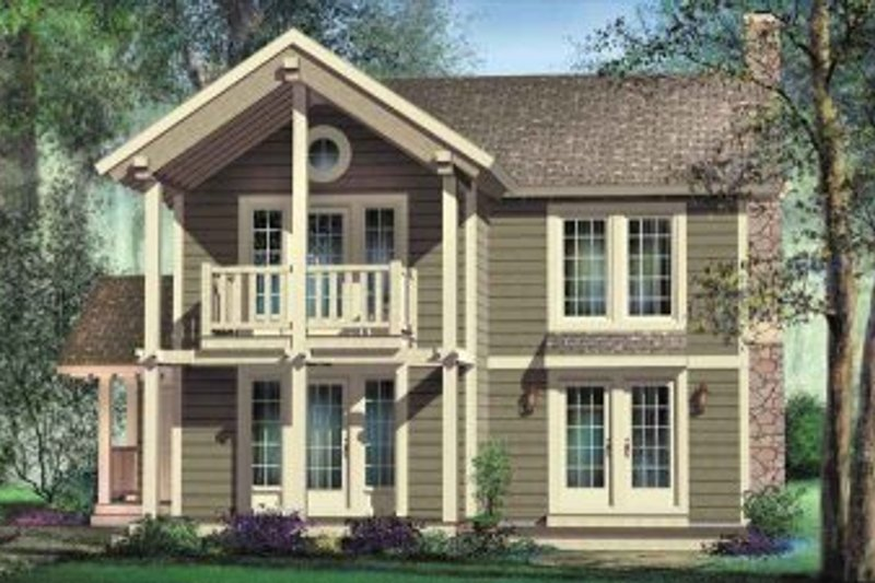 Cottage Style House Plan - 2 Beds 1.5 Baths 1471 Sq/Ft Plan #25-4195 Exterior - Front Elevation