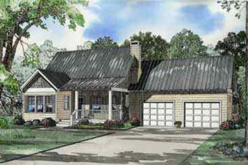 House Plan Design - Southern Exterior - Front Elevation Plan #17-565