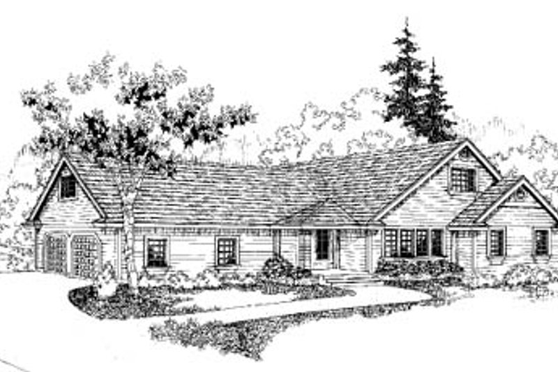 Traditional Exterior - Front Elevation Plan #60-168 - Houseplans.com