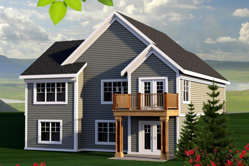 Craftsman Exterior - Rear Elevation Plan #70-1213 - Houseplans.com