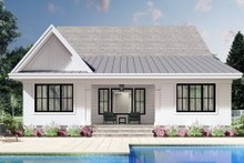 Dream House Plan - Farmhouse Exterior - Rear Elevation Plan #51-1172