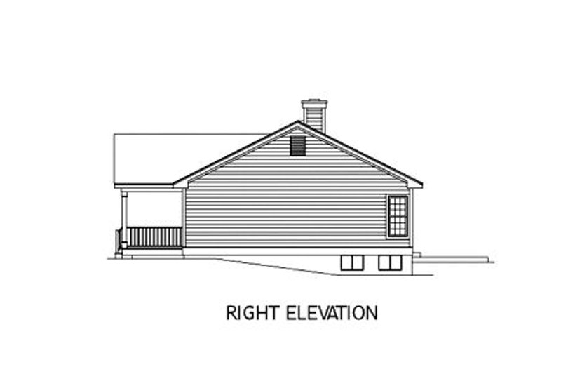 Ranch Exterior - Other Elevation Plan #57-108 - Houseplans.com