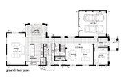 Modern Style House Plan - 4 Beds 2.5 Baths 4205 Sq/Ft Plan #496-2 Floor Plan - Main Floor Plan