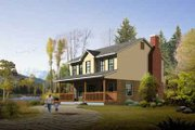 Traditional Style House Plan - 3 Beds 2.5 Baths 1864 Sq/Ft Plan #1-978 Exterior - Front Elevation