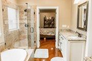 European Style House Plan - 3 Beds 2 Baths 1870 Sq/Ft Plan #430-107 Interior - Master Bathroom