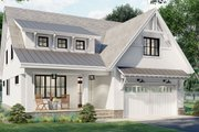 Farmhouse Style House Plan - 4 Beds 3.5 Baths 2889 Sq/Ft Plan #51-1165 Exterior - Front Elevation