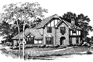 European Exterior - Front Elevation Plan #10-146