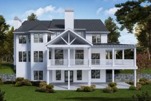 House Plan Design - Farmhouse Exterior - Rear Elevation Plan #54-379