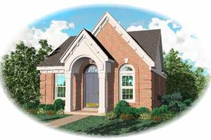 European Exterior - Front Elevation Plan #81-127