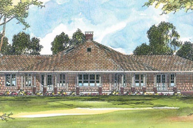 Dream House Plan - Farmhouse Exterior - Front Elevation Plan #124-195