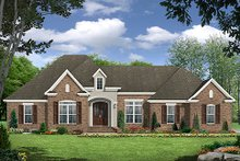 European Exterior - Front Elevation Plan #21-298