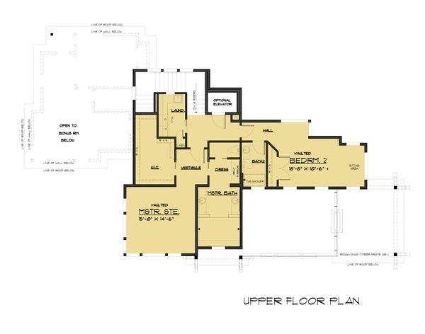 Modern Floor Plan - Upper Floor Plan Plan #1066-43