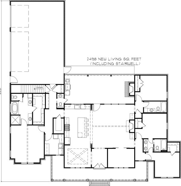 Dream House Plan - Basement Stair Location