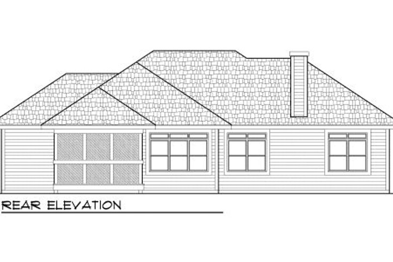 Traditional Exterior - Rear Elevation Plan #70-975 - Houseplans.com