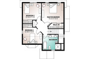 Country Style House Plan - 3 Beds 1.5 Baths 1638 Sq/Ft Plan #23-2240 Floor Plan - Upper Floor Plan