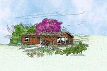 Dream House Plan - Traditional Exterior - Front Elevation Plan #60-399