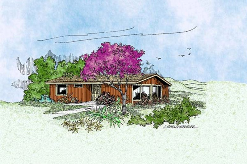 Traditional Exterior - Front Elevation Plan #60-399 - Houseplans.com