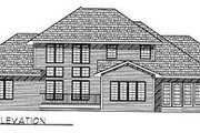 Traditional Style House Plan - 3 Beds 2.5 Baths 2783 Sq/Ft Plan #70-443 Exterior - Rear Elevation