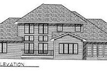 Traditional Exterior - Rear Elevation Plan #70-443