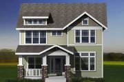 Craftsman Style House Plan - 3 Beds 2.5 Baths 2996 Sq/Ft Plan #461-12 Exterior - Other Elevation
