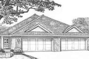 Traditional Style House Plan - 2 Beds 2 Baths 2416 Sq/Ft Plan #310-440 Exterior - Front Elevation