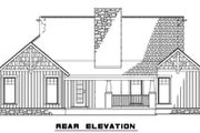 Craftsman Style House Plan - 3 Beds 2 Baths 1485 Sq/Ft Plan #17-2217 Exterior - Rear Elevation