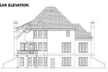 House Design - European Exterior - Rear Elevation Plan #119-291
