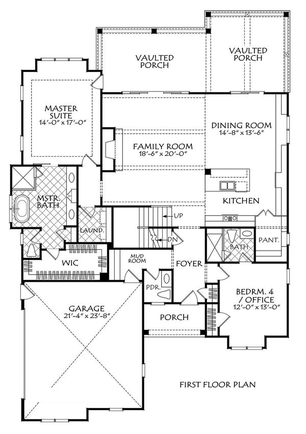 Farmhouse Floor Plan - Main Floor Plan Plan #927-1006