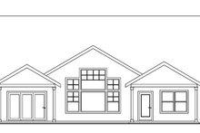 Craftsman Exterior - Rear Elevation Plan #124-750