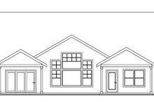 House Design - Craftsman Exterior - Rear Elevation Plan #124-750