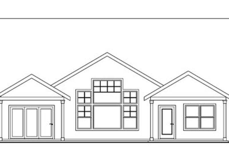 Craftsman Exterior - Rear Elevation Plan #124-750 - Houseplans.com