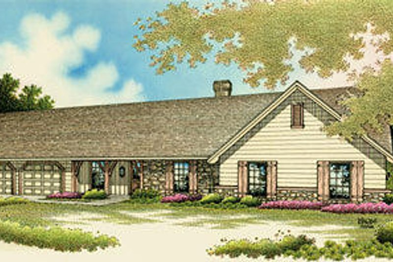 Ranch Style House Plan - 4 Beds 2 Baths 1751 Sq/Ft Plan #45-272 Exterior - Front Elevation