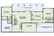 European Style House Plan - 5 Beds 4.5 Baths 4469 Sq/Ft Plan #17-2545 Floor Plan - Lower Floor Plan