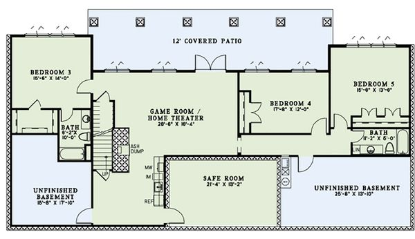 European Floor Plan - Lower Floor Plan Plan #17-2545