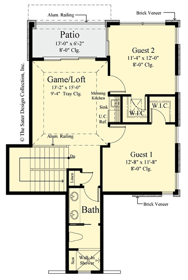 Traditional Floor Plan - Upper Floor Plan Plan #930-497