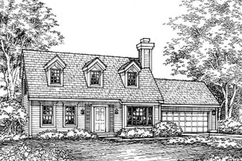 Colonial Exterior - Front Elevation Plan #50-141