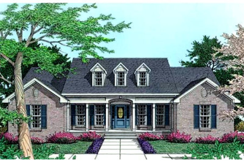 Southern Exterior - Front Elevation Plan #406-183