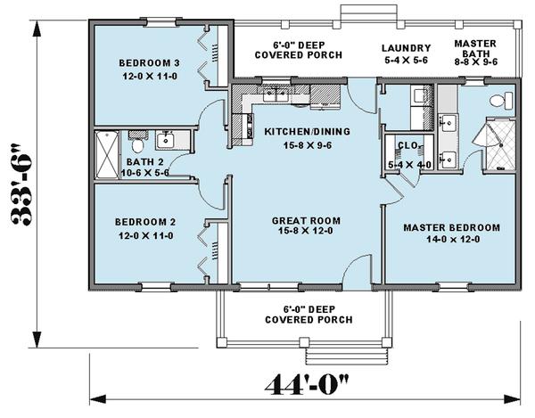 House Plan Design - Farmhouse Floor Plan - Main Floor Plan #44-224