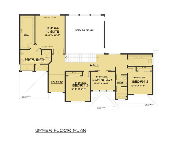 Modern Floor Plan - Upper Floor Plan Plan #1066-82