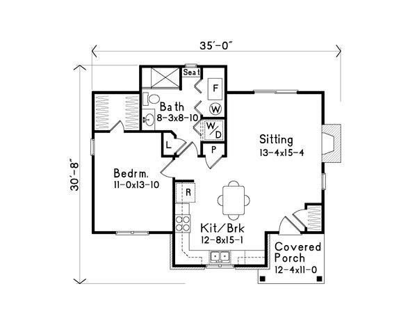 Dream House Plan - Cottage Floor Plan - Main Floor Plan #22-567