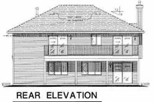 Traditional Exterior - Rear Elevation Plan #18-1015