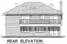 House Blueprint - Traditional Exterior - Rear Elevation Plan #18-1015