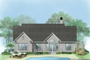 Cottage Style House Plan - 3 Beds 2 Baths 1559 Sq/Ft Plan #929-433 Exterior - Rear Elevation