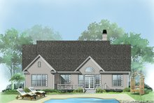 Home Plan - Cottage Exterior - Rear Elevation Plan #929-433