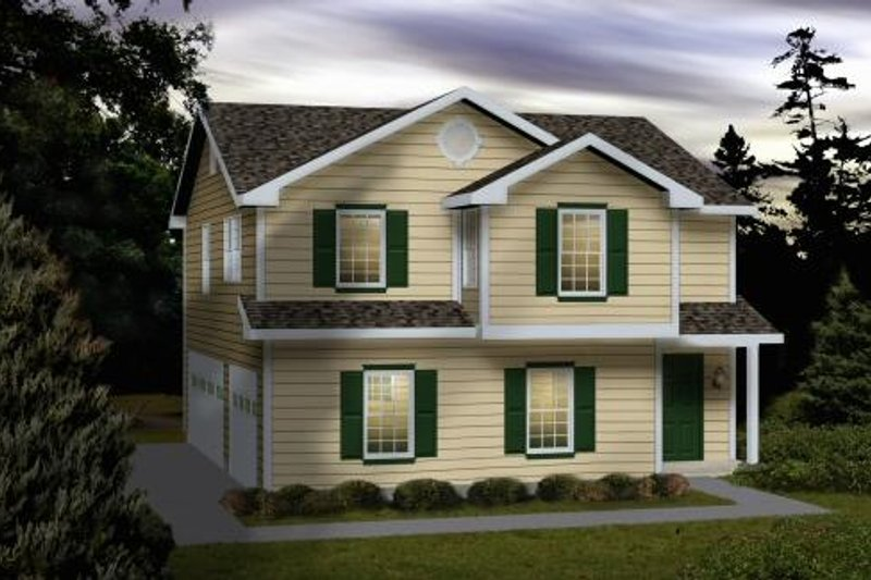 Home Plan - Traditional Exterior - Front Elevation Plan #22-404