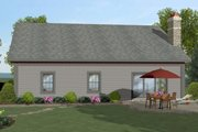 Craftsman Style House Plan - 3 Beds 2 Baths 1499 Sq/Ft Plan #56-704 Exterior - Rear Elevation
