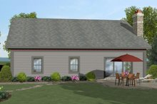 Architectural House Design - Craftsman Exterior - Rear Elevation Plan #56-704
