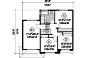 Contemporary Style House Plan - 3 Beds 1 Baths 1590 Sq/Ft Plan #25-4340 Floor Plan - Upper Floor Plan